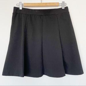 H&M Skater Mini Skirt Black Above Knee Size US 10